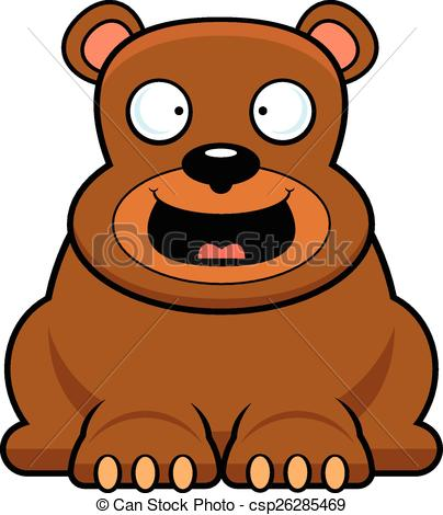 404x470 Cartoon Brown Bear Happy. Cartoon Illustration Of A Brown Clip
