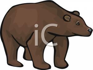 300x225 Clip Art Image A Brown Bear