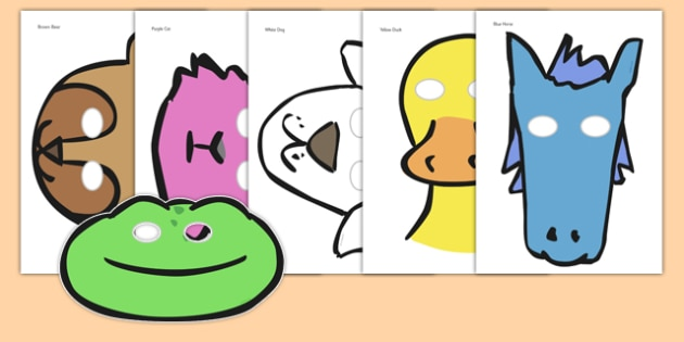 630x315 Story Role Play Masks To Support Teaching On Brown Bear, Brown