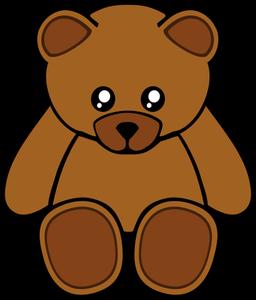 256x300 7083 Free Clipart Teddy Bear Outline Public Domain Vectors