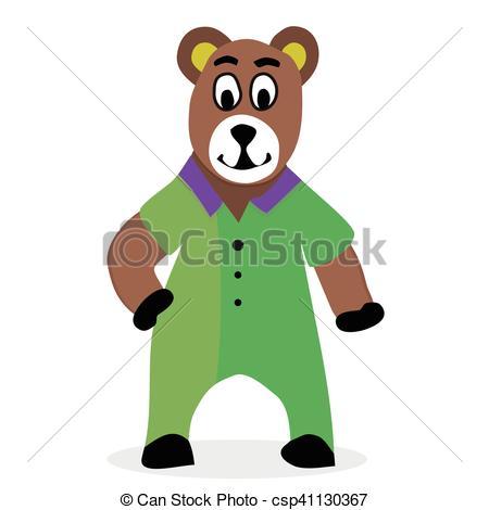 450x470 Bear Cartoon Vector. Teddy Bear And Brown Bear, Animal Bear