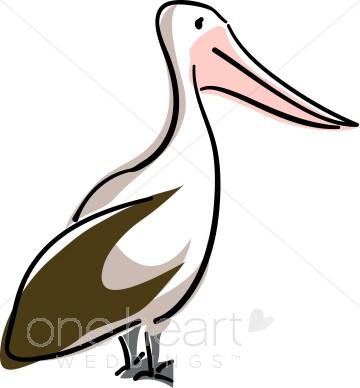 360x388 White Pelican Clipart Nautical Wedding Clipart