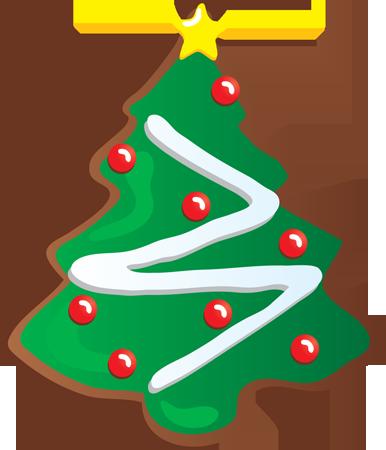 386x450 Brownie Clipart Christmas