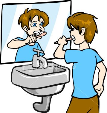 358x380 Brushing Teeth Cliparts Free Download Clip Art