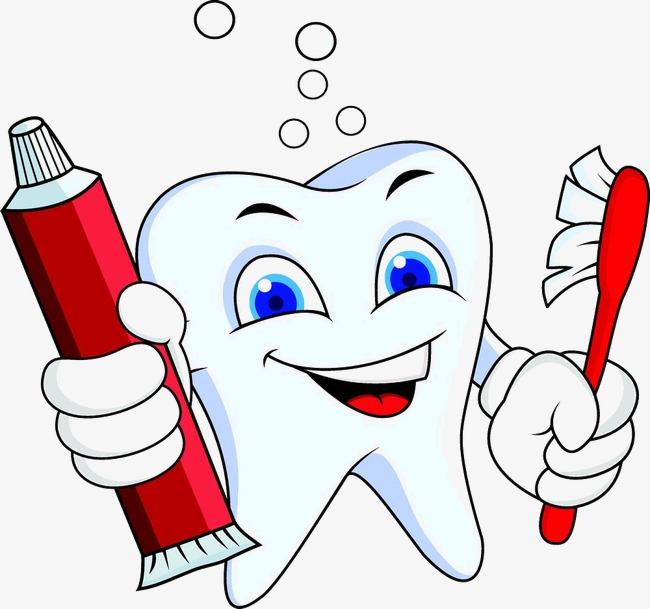 650x609 Cartoon Tooth Toothpaste, Toothbrush, Brush Teeth, Cartoon Tooth