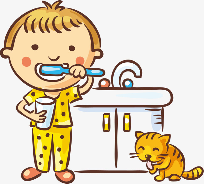 650x587 Children Brush Your Teeth, Wash, Boy, Basin Png And Vector