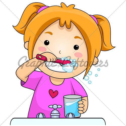 500x500 Brushing Teeth Clip Art. Kid Clipart Panda