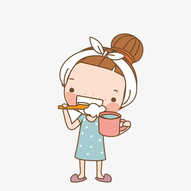 650x650 Brush Teeth, Girl, In The Morning Png Image And Clipart For Free