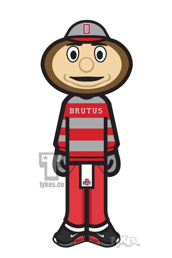 600x900 Tykes On Twitter Brutus Buckeye Ohio State Mascot Tyke
