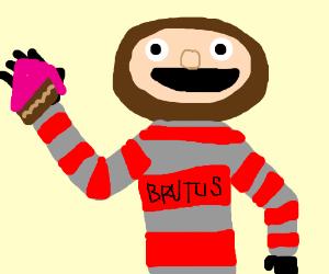 300x250 Brutus Buckeye Eating Cake