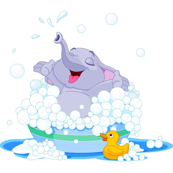 600x600 Bubble Bath Elephant Happy Elephant, Bubble Baths And Clip Art