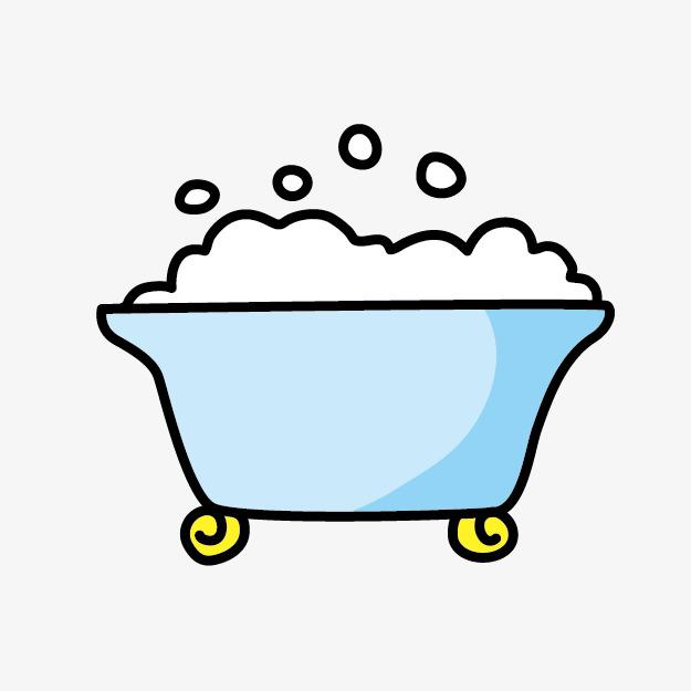 625x625 Cartoon Cute Bathtub Bubble Bath PNG