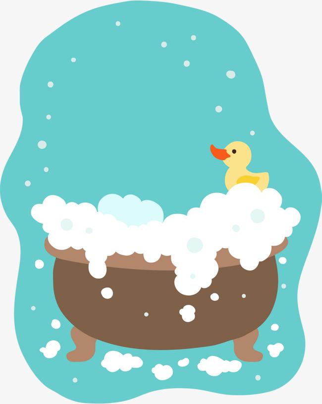 650x814 Cute Children Painting Bubble Bath Vector, Cartoon, Take A Bath