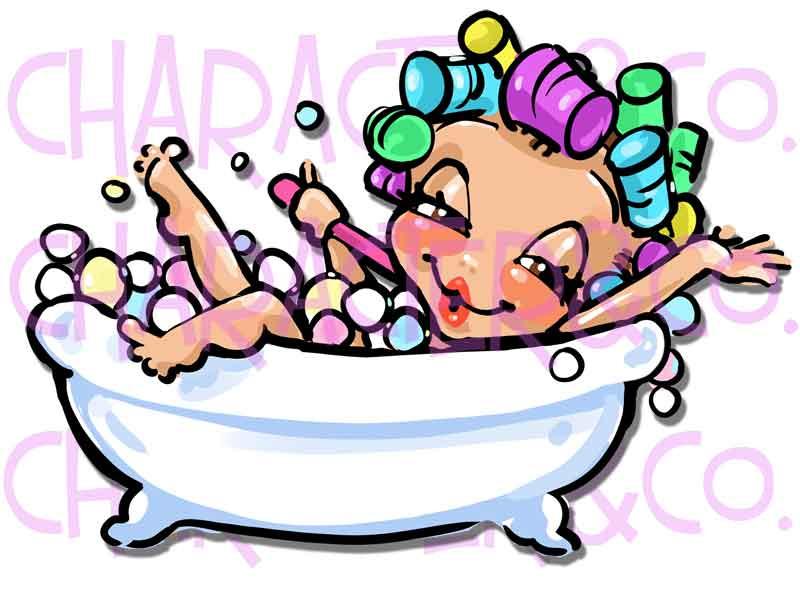 800x592 Cute Girl Enjoying Bubble Bath