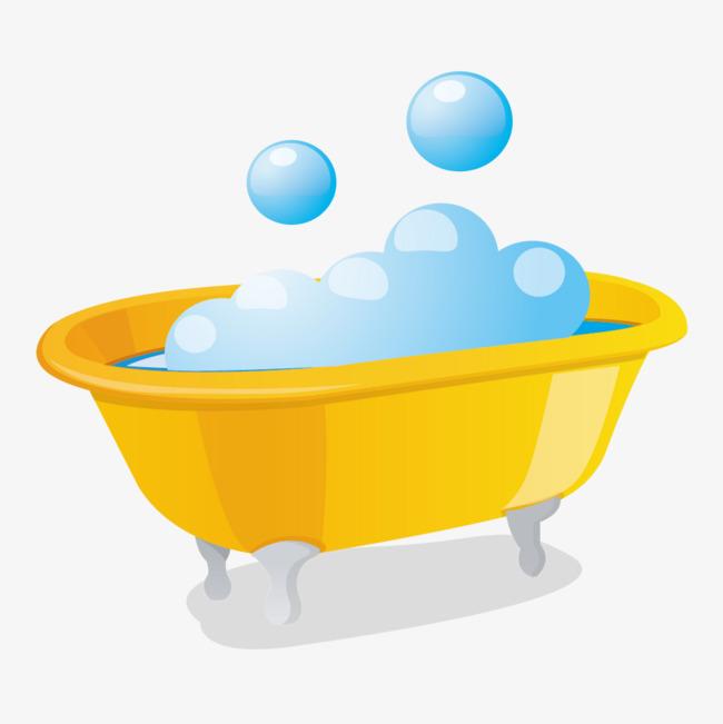 650x651 Yellow Bubble Bath Creative, Yellow, Aquarium, Bubble Png