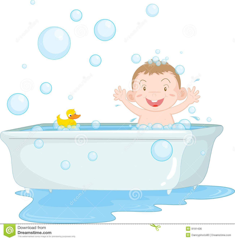 1300x1324 Bath Time Clip Art