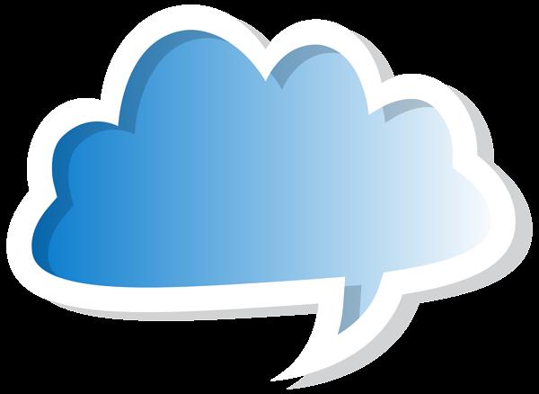 600x438 Cloud Bubble Speech Blue Png Clip Art Imageu200b Gallery