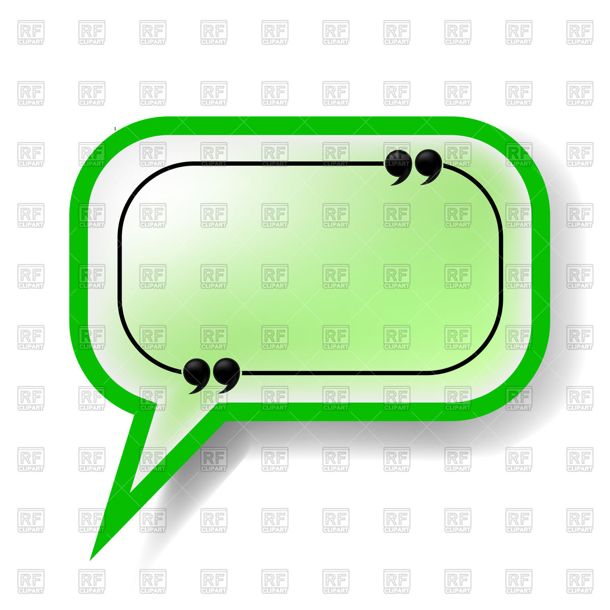 1200x1200 Green Speech Bubble Royalty Free Vector Clip Art Image