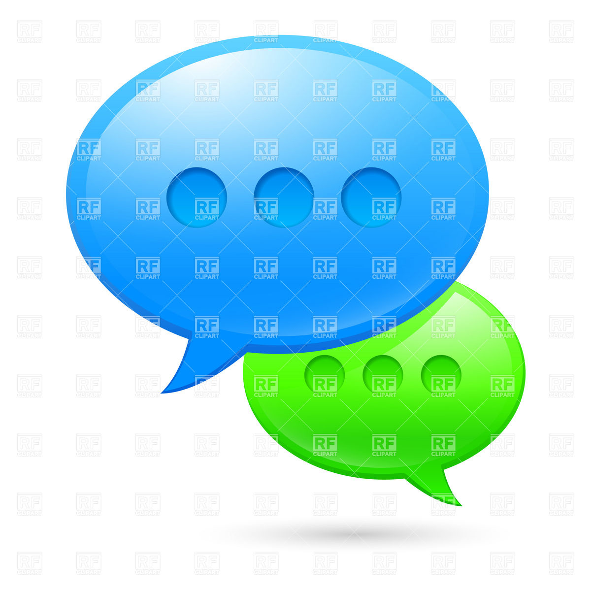 1200x1200 Sms Speech Bubble Icons Royalty Free Vector Clip Art Image