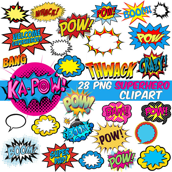 570x570 Superhero Clipart Comics Bubble Clipart Superhero Speech Bubble