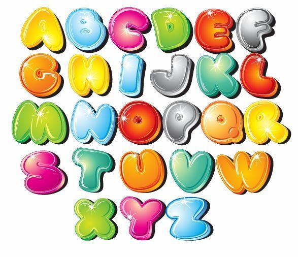 Bubble Letter Clipart