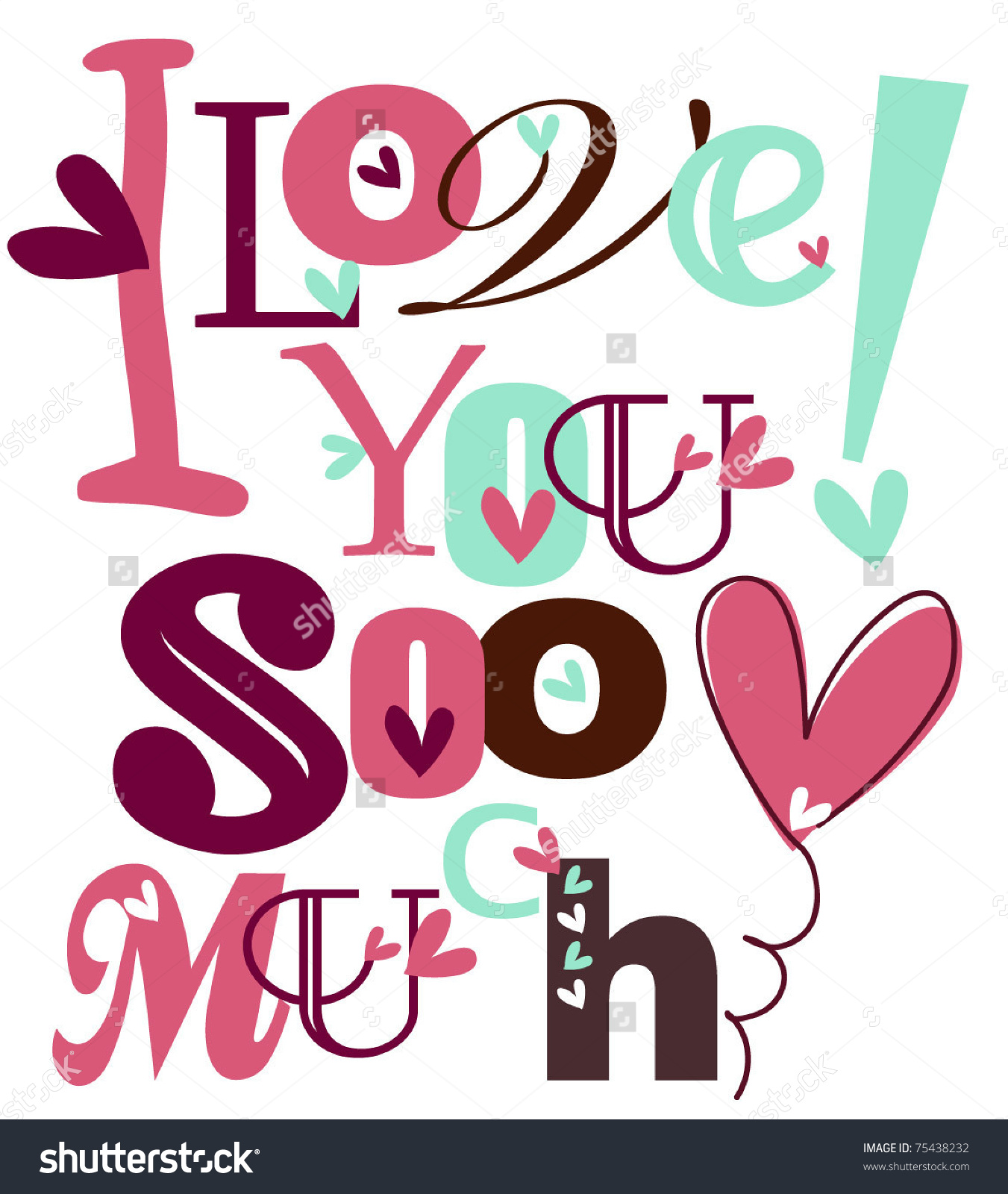 Love You In Bubble Letters