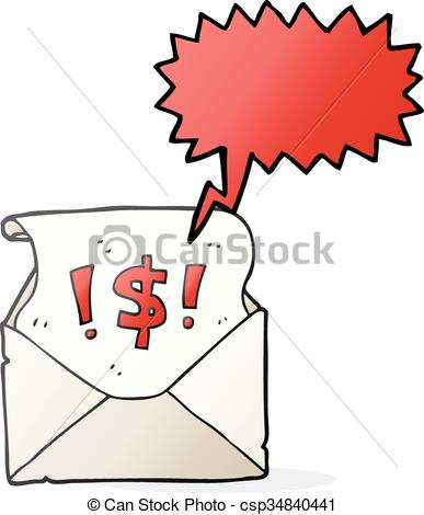 387x470 Freehand Drawn Speech Bubble Cartoon Abusive Letter Eps Vector