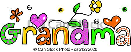 450x179 Word Clipart Grandma
