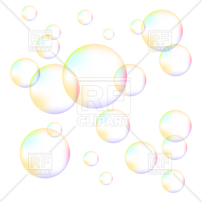 400x400 Colorful Foam Bubbles On White Background Royalty Free Vector Clip