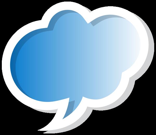 600x519 Bubble Speech Cloud Blue Png Clip Art Imageu200b Gallery