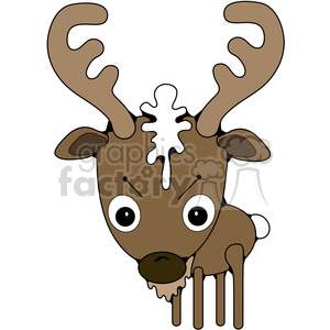 300x300 Royalty Free Buck Deer 387257 Vector Clip Art Image