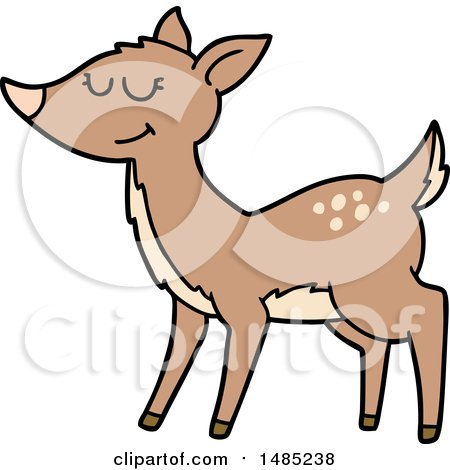 450x470 Cartoon Of A Talking Buck Deer