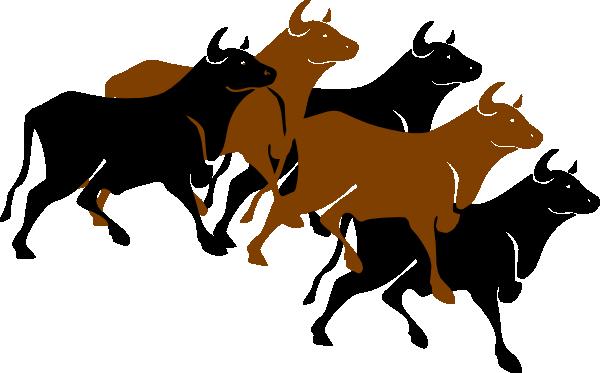 600x373 Bulls Clipart