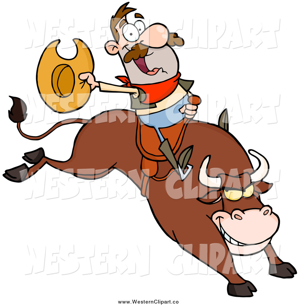 1024x1044 Vector Clip Art Of A White Male Rodeo Cowboy On A Bucking Bull By
