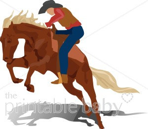 300x262 Cowboy Bucking Bronco Clipart Cowboy Baby Clipart