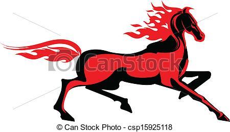 450x258 Fiery Horse Vector Clipart Royalty Free. 92 Fiery Horse Clip Art