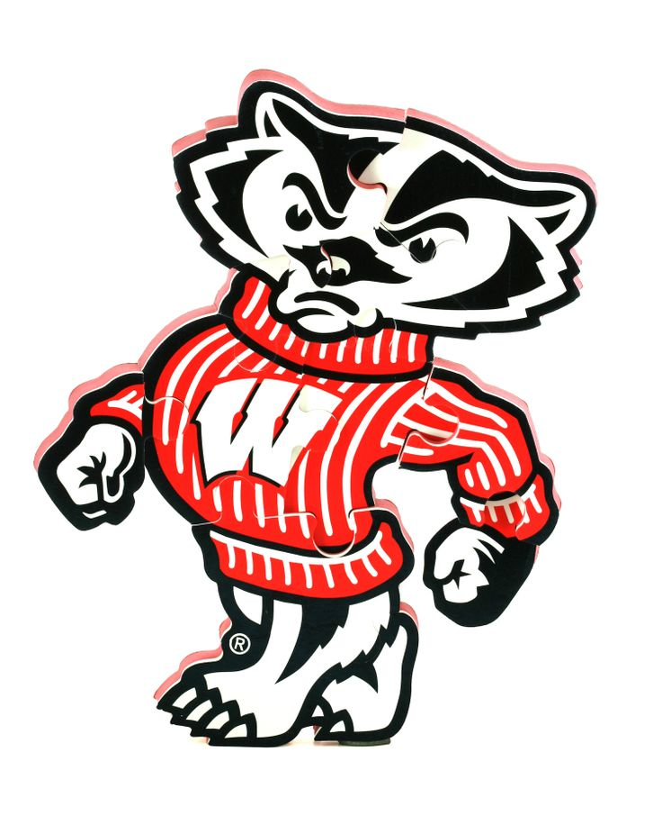 Bucky Badger Clipart