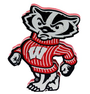 300x313 Bucky Badger Foam Puzzle