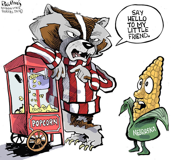 700x656 Hands On Wisconsin Bucky Makes A Fresh Batch Of Popcorn Opinion