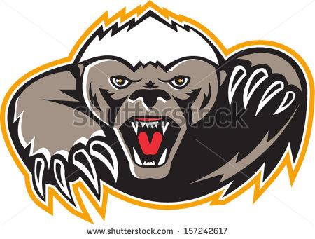 450x341 Badger Clipart Mascot