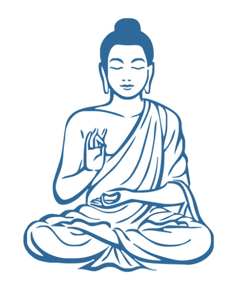 509x612 Meditating Buddha Wall Sticker (15 Different Colors)