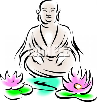 332x350 Royalty Free Clipart Image Buddha Design With Lotus Flowers