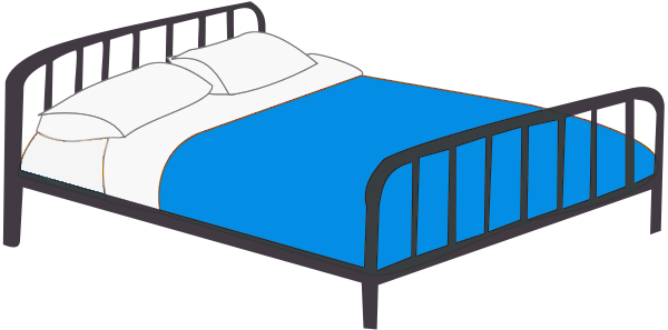 600x297 Bed Clipart Double Bed