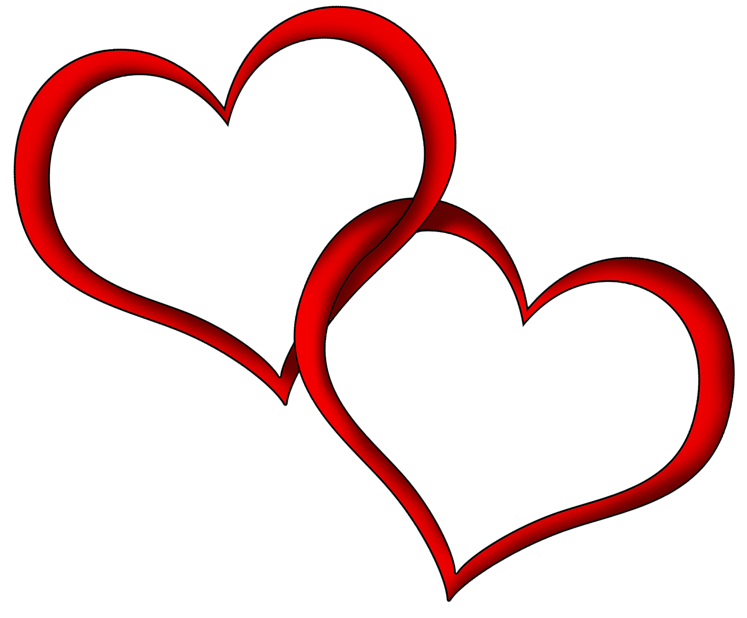 1504x1245 Heart Outline Clipart Png Collection