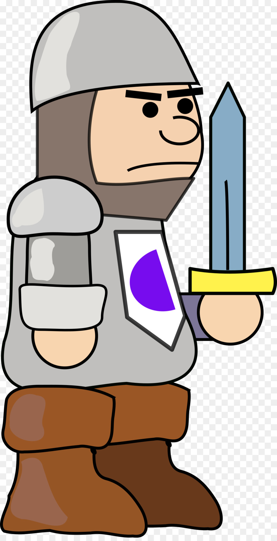 900x1760 Middle Ages Soldier Knight Clip Art