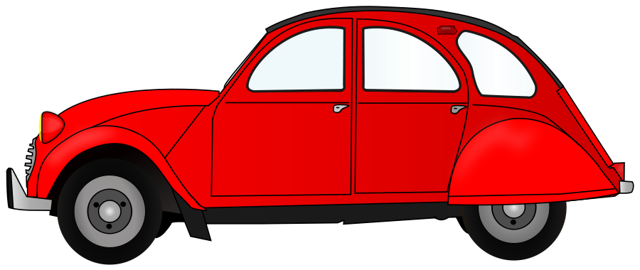 900x380 2cv Red Car Clipart Large Size 2cv