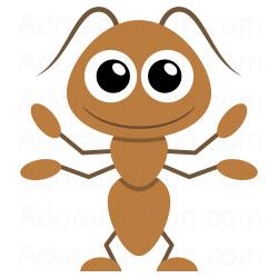 250x250 Ant Clipart ( Motyle,owady,biedronki) Ant