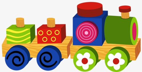 500x253 Block Train, Building Blocks, Toy, Game Png Image And Clipart