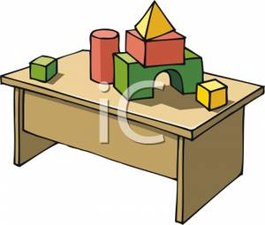 300x255 Clipart Picture Building Blocks On A Table