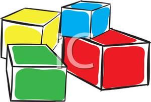 300x203 Four Colorful Building Blocks Clipart Image